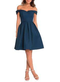 e9f6013f18  Chi Chi London Petite Blue Bardot Dress - Dorothy Perkins France Dama  Dresses