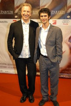 """September 7, 2006 - Alan Rickman and Ben Wishaw at the Munich premiere of """"Perfume: The Story of a Murderer."""""""