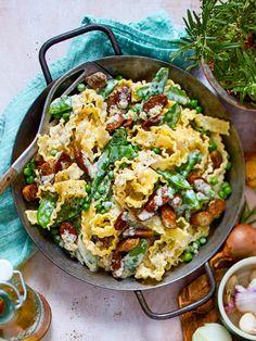 Das hätten die Nürnberger Würstchen auch nicht gedacht: Es geht ohne Sauerkraut! #pasta