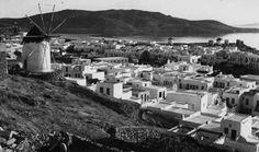 MYKONOS TOWN & WINDMILLS 1930