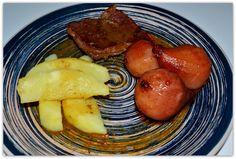 gewichtsconsulente.punt.nl Runderlapje met stoofpeertjes en gekookte aardappelen.