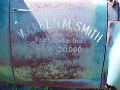 "Old Heavy Construction Truck - Blue Star Highway (Old US 31) - East Saugatuck, Michigan - Painted Advertising On Door - ""Warren M. Smith…"
