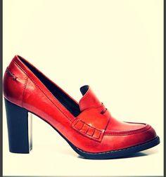 New Style college shoes #Manfield Cognac & Black #Pump