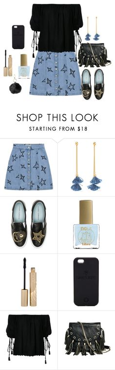 """""""Untitled #1886"""" by ebramos ❤ liked on Polyvore featuring Être Cécile, Ben-Amun, Chiara Ferragni, ncLA, Stila, SnapLight, G.V.G.V., GUESS by Marciano and Under One Sky"""