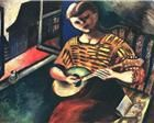Marc Chagall (Russian/French, - Lisa with a Mandolin, 1914 Marc Chagall, Russian Avant Garde, Atelier D Art, Pin Up, Fauvism, Art Database, Naive Art, Henri Matisse, French Artists