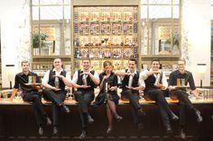 The Bank Bar team. Bridesmaid Dresses, Wedding Dresses, Characters, Bar, People, Fashion, Bridesmade Dresses, Bride Dresses, Moda