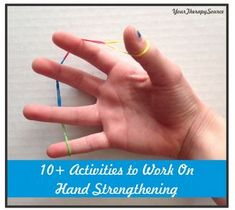 OT Corner: 10 Activities to Work On Hand Strengthening- pinned by @PediaStaff – Please Visit ht.ly/63sNtfor all our pediatric therapy pins