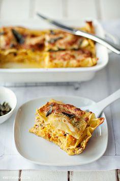 Pumpkin Lasagne with ricotta, sage and parma ham