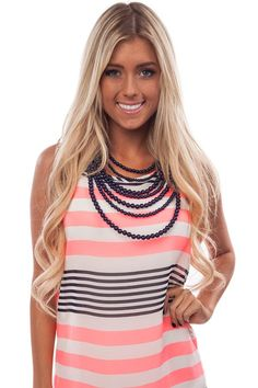 Lime Lush Boutique - Navy Seven Layer Bead Necklace, $28.99 (http://www.limelush.com/navy-seven-layer-bead-necklace/)#fashion #style #chronicleblog #lovefashion #new #fashionblog #instafashion #photomodel #beauty #trend #queen #day #us #follow #girl #dress #princess #look #lookbook #like #beautiful #cute #sexy #iphonesia
