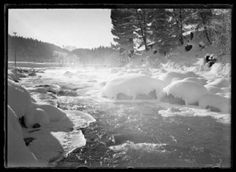 The Inn River after Snow Monochrome Giclee print Edition with embossed studio stamp, 68 x Sold with the original glass plate negative Previously on sale at Adam's. Giclee Print, Monochrome, Photographs, Plate, Stamp, Snow, River, The Originals, Studio