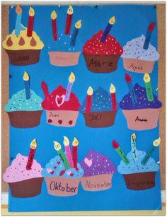 Bastelt euch einen bunten Geburtstagskalender für die Klasse      Als ich letztes Jahr eine Idee für einen Geburtstagskalender im Internet ...