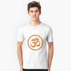 Om Symbol, My T Shirt, Chiffon Tops, Shirt Designs, Symbols, Yoga, Printed, Awesome, Mens Tops