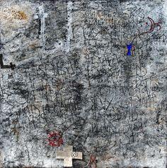 Walter Rast, Au Lecteur Gemengde techniek op doek 100 x 100 cm, 2008