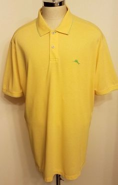 Tommy Bahama Mens Marlin Polo Shirt Yellow Size XXL  #TommyBahama #MarlinPoloRugby