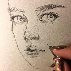 sketch of girls face