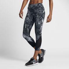 Nike Power Epic Lux Women's Running Crops Size Medium (Grey)