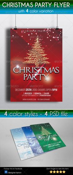 Buy Christmas Party Flyer by MatrixPixel on GraphicRiver. This Flyer Perfect for Any Related Christmas Event such as Party,Concert,Promotional or Anything Else Specifications:. Office Holiday Party, Holiday Parties, Flyer Design Templates, Print Templates, Christmas Concert, Merry Christmas, Christmas Flyer Template, Concert Flyer, Party Flyer