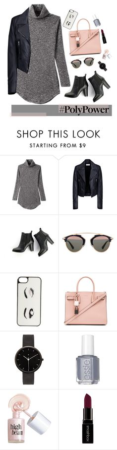 """""""Power Outfit"""" by mandy-saur on Polyvore featuring Balenciaga, SWEET MANGO, Christian Dior, Kate Spade, Yves Saint Laurent, I Love Ugly, Essie, Benefit, Smashbox and PolyPower"""