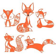 Cute Fox Cuttable Design SVG, DXF, EPS use with Silhouette Studio & Cricut…