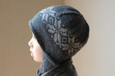 B's Norwegian Star Earflap Hat by tiennieknits,boys free knitting pattern, aviator hat, fair isle