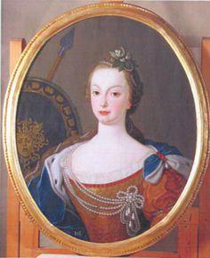 Retrato de D. Maria Francisca de Bragança, executada por Francisco Vieira Lusitano em 1753