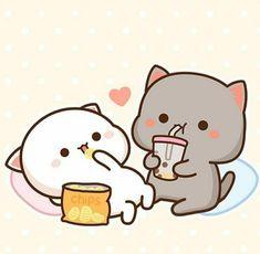 Cute Images, Cute Pictures, Weather Wallpaper, Cute Anime Cat, Chibi Cat, Cute Words, Little Panda, Free Mind, Cute Kawaii Drawings