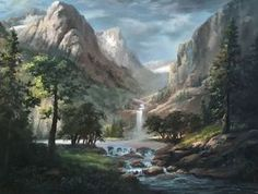 """""""Sunlit Mountain Pass"""" Oil Painting by Kevin Hill Watch short oil painting lessons on YouTube: KevinOilPainting Visit my website: www.paintwithkevin.com Find me on Facebook: Kevin Hill Follow me on Twitter: @paintwithkevin"""