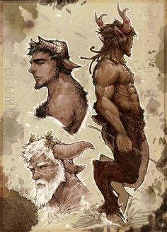 The Satyr's Glade Fantasy Art Men, Fantasy Races, Zbrush, Character Concept, Character Art, Animated Man, Greek Gods And Goddesses, Greek Mythology, Humanoid Creatures