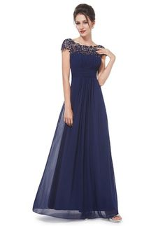 Polyester Solid Short Sleeve Maxi Elegant Dresses (1012673) @ floryday.com