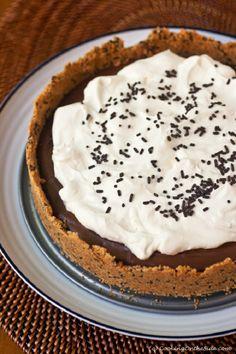 Sprinkle-Flecked Graham Cracker Crust Chocolate Pudding Pie