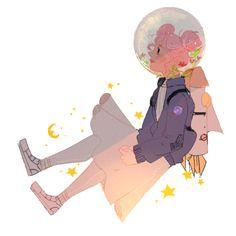 littlestpersimmon: space girl