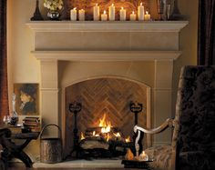 Inject classic French design into your home with the beatiful Normandy cast stone mantel from Old World Stoneworks.