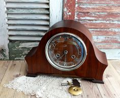 Vintage Art Deco British Made Mantel Clock With Chimes By Avintageobsession On