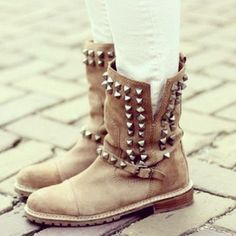 studded boots from Zara