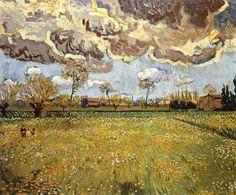 Vincent Van Gogh - Post Impressionism - Arles - Prairies en Arles - 1889
