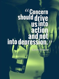 Concern should drive us into action and not into #depression.
