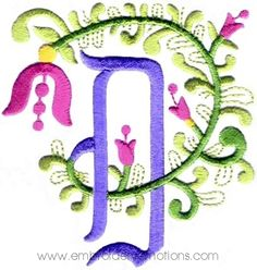 Floral Alphabet Machine Embroidery Designs by Embroidery Emotions, via Behance