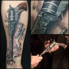 "Half-sleeve colt from ""Supernatural"" tattoo"