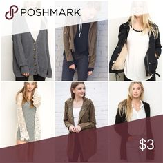 """outerwear pt. 2 Do NOT ask """"how much ___ is"""" or """"lowest?"""". MAKE AN OFFER.  **Disclaimer: I love my Brandy collection, just like I'm sure you love yours. All items are either NWT or NWOT. Please don't be offended if I turn down your offer(:  knit laura cardigan // olive green hailey // faux fur black doris // crochet knit tacie cardigan // olive green clark coat // hooded fuzzy knit theodore cardigan Brandy Melville Jackets & Coats"""