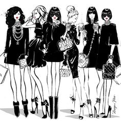 We're all drinking CocoCino's today! This illustration is from my new book: COCO CHANEL - The Illustrated life of a Fashion Icon.... Coming soon!