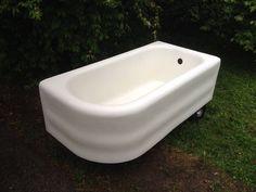 vintage cast iron art deco bathtub right hand 5 foot bathtub antique tub by