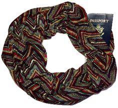 Secret Pocket Scarf - Morning Rise - 38/76 in Long - Hidden Pocket Travel Scarf - Jersey Knit - 2nd Pocket Optional