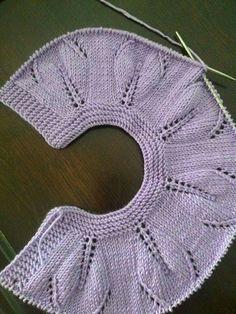 cuellos tejidos para niña a crochet