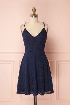Arava Bleu Navy Lace A-Line Skater Dress | Boutique 1861 Short Dresses, Prom Dresses, Formal Dresses, Lace Dresses, Girly, Quince Dresses, Dress Robes, Navy Lace, Online Fashion Boutique