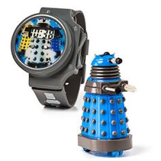 """The 'Shut Up And Take My Money' Doctor Who Link Of The Day: Doctor Who Dalek R/C Watch """" Your phone tells you the time, so it's time for your watch to evolve into something cooler. Why not a Dalek. Doctor Who Gifts, Doctor Who Dalek, Ninth Doctor, Geek Toys, Fantasy Gifts, Tardis, Cool Gadgets, Watch Bands, Nerdy"""