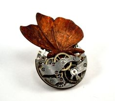 5e1215640f43 Steampunk Butterly Pin Butterfly Brooch Steampunk Pin by Chanchala  Butterfly Pin, Detail Art, Antique