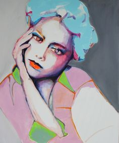 """Saatchi Art Artist: Patricia Derks; Acrylic 2014 Painting """"Still thinking about you 3"""""""