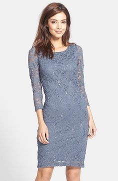 Marina Embellished Stretch Lace Sheath Dress available at #Nordstrom but in navy