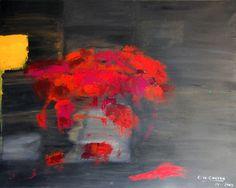 """Saatchi Online Artist Concha De Castro; Painting, """"Red Flowers"""" #art"""
