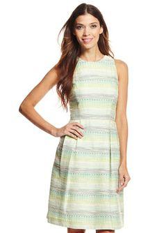 On ideeli: CARMEN MARC VALVO Striped Fit-and-Flare Dress